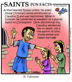 Saints Fun Facts for St. Valentine