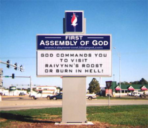Funny Church Signs (Sorta)