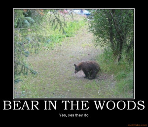 Click image for larger versionName:bear-in-the-woods-demotivational ...
