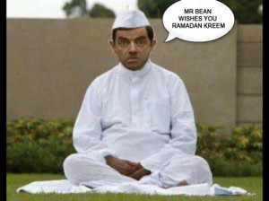 Funny Ramadan Pic With Mr.Bean And Message: Mr. Bean Wishes You ...