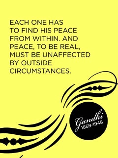 your own peace - Gandhi #quotes