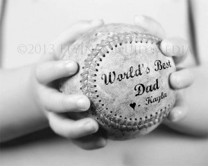 Personalized Gift for Dad - 5x7 to 20x24 (price varies) Baseball Print ...