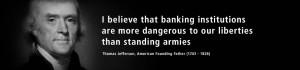 Thomas Jefferson Quotes Banks