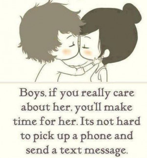 Boys If You Really care About her you Will make Time For her