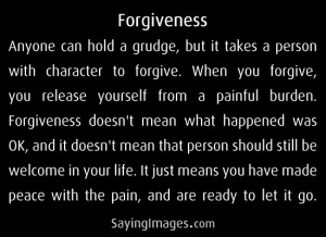 Forgiveness: Quote About Forgiveness ~ Daily Inspiration
