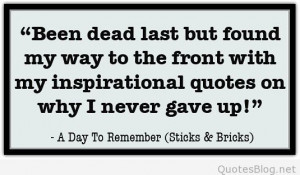 day to remember quote