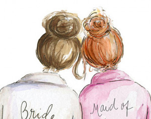 Maid of Honor Brunette Bride and RE D Head Maid of Honor, Will You Be ...