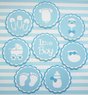 Baby Boy Quotes For Scrapbooking Die cut baby boy tags diy