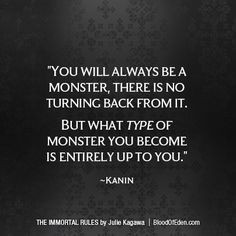 ... monster, there is no turning back from it. But what type of monster