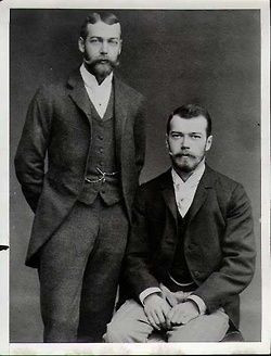 Tsar Nicholas II of Russia and King George V of Great Britain