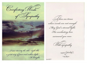 Comforting Words Sympathy Cards