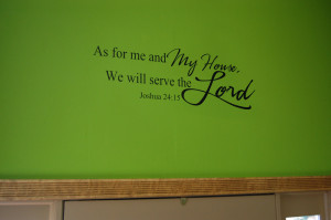 Bible Verses About Family Bible verse wall decal, family