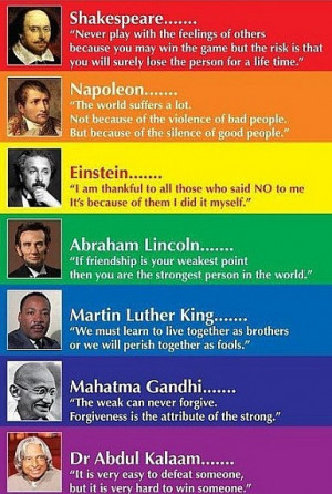Famous people and their quotes: