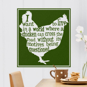 is great! Inside this traditional chicken wall art is a cute quote ...