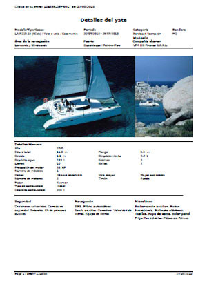 Yacht Charter - yacht details (here: Lavezzi 40)