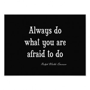 Vintage Emerson Inspirational Courage Quote Photographic Print