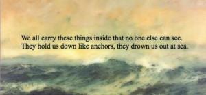 anchor, bmth, bring me the horizon, ocean, sea, text, typography ...