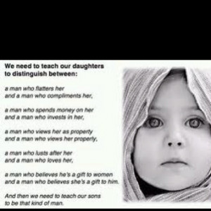 Mom's teach your daughter's and sons!