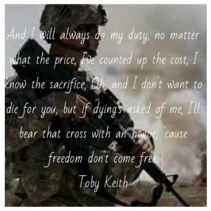 Keith.. This sing makes me cry every time because of the sacrifices ...
