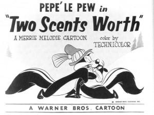 Bin oui, je personnage de Looney tunes, pépé le putois en Français ...