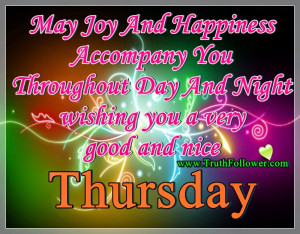 Thread Good Morning Thursday