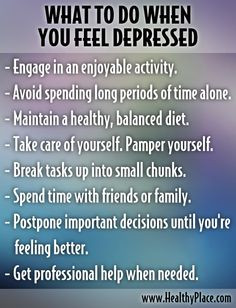 ... -depressed-what-to-do-when-you-feel-depressed/ - #Depression #advice