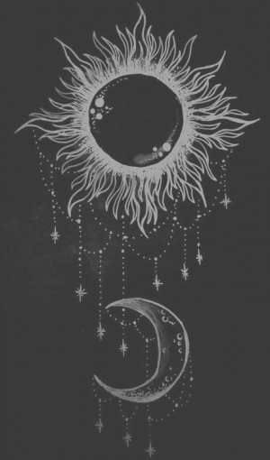 drawing art Black and White white hipster vintage indie b&w moon black ...