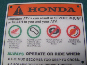 Funny Honda Sayings Honda atv trx650 680 500 450
