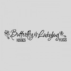 Butterfly & Ladybug...Nursery Wall Quotes Words Sayings Removable Wall ...