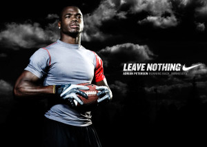 Adrian Peterson : Officially Back With Nike (1)