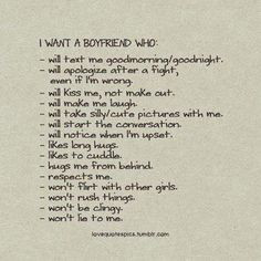 The boyfriend every girl wants - Relationship Rules...so true!