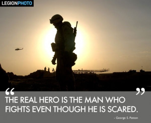 The Real #Hero is the man who fights even though he is scared.