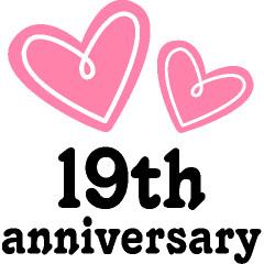 19th Anniversary Hearts Gift