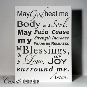 Prayer Quotes For Healing Healing prayer vinyl wall