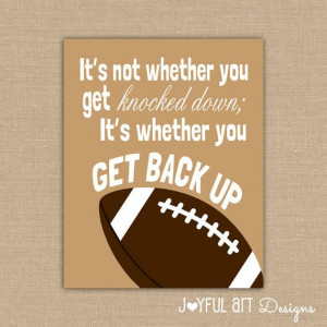 Quote PRINTABLE Signs. Sports Decor. Football Sign. Children's Wall ...