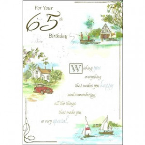 For Your 65th Birthday' Mens 65th Birthday Card - Country Boating ...