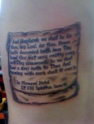 boondock saints prayer on ribs tattoo