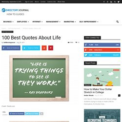 100 Best Quotes About Life