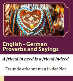 English - German Proverbs and Sayings