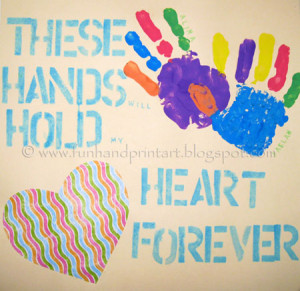 These Hands Will Hold My Heart Forever Gift Idea for Grandma