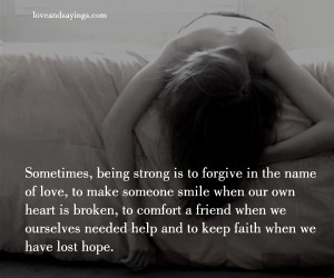 Keep Faith When We Have Lost Hope