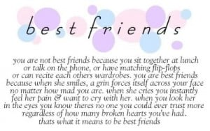 sweet amp meaningful best friend saying Image