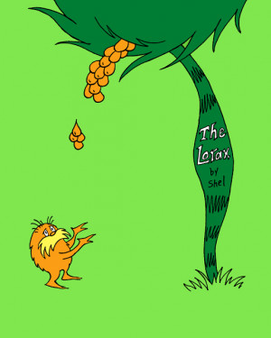 THE LORAX IN A SHEL SILVERSTEIN STYLE