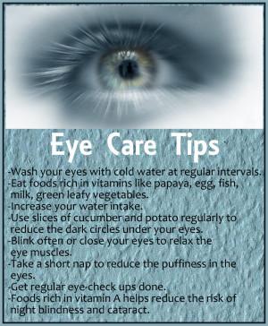 Home » Eye Care Tips » Health Tips » Eye Care Tips
