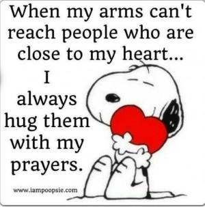 Hug with my prayers quote
