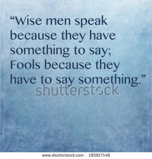 Inspirational quote by ancient Greek philosopher Plato - stock photo