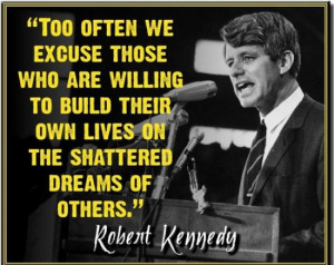 Too often we excuse those who are willing to build their own lives on ...