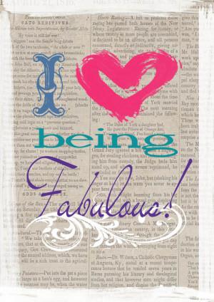 Being Fabulous