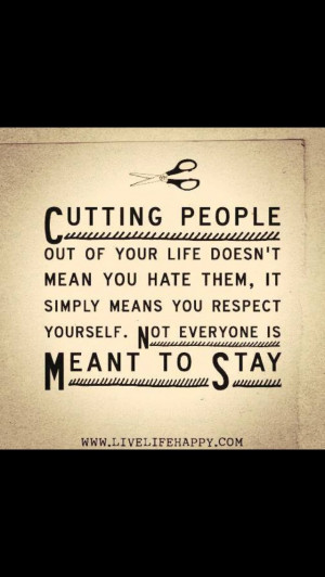 Cut out negative people
