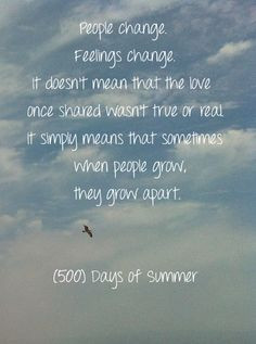 500 Days Of Summer Quotes People Change